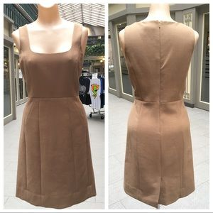 Classic Camel Tory Burch Masterfully Fitted Dress